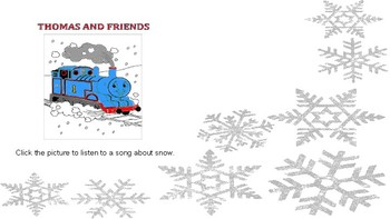 December Songs and a Story for Students with Special Needs