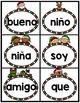 December Spanish Kindergarten High Frequency Words