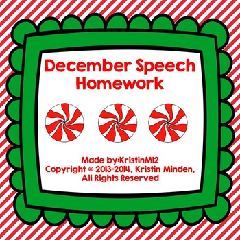 December Speech Homework