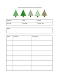 December Speech Therapy Data Collection Sheets