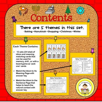 December Speech Therapy Idioms - Upper Elementary, Middle School,  High School