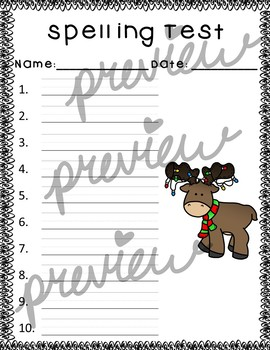 December Spelling Kit (No Prep!)