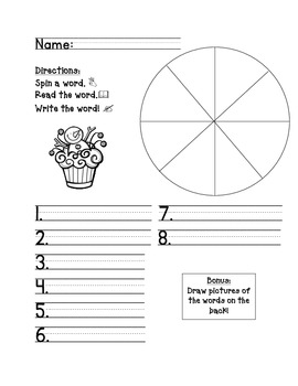 December Spin Read and Write FREEBIE