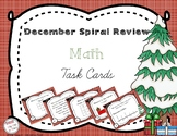 December Spiral Review Math Task Cards