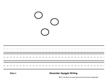 December Squiggle Writing Paper