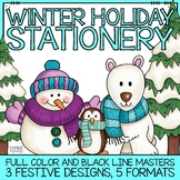 December & Winter Holiday Stationery Printable Pack