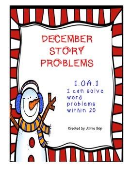December Story Problems (1.OA.1)
