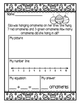 December Story/Word Problems
