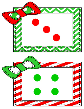 December Subitizing Cards for Numbers 2-5