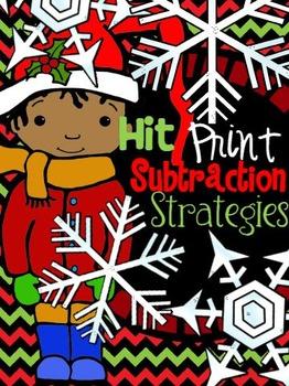 {December} Subtraction Strategies - Print & Practice