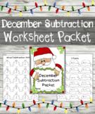 December Subtraction Worksheets - December Subtraction Packet