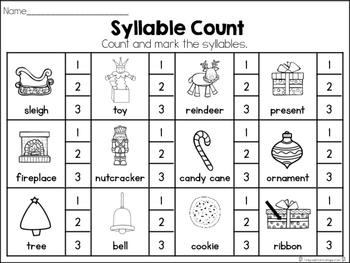 December Syllable Set