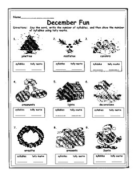 December Syllables & Tally Marks