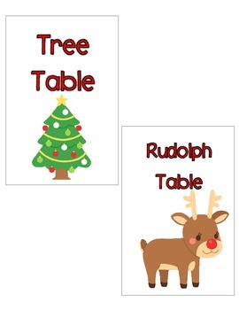 December Table Signs (for use with IKEA Tolsby frames)