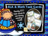Winter Task Cards - ELA & Math
