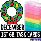 December Task Cards - First Grade  Perfect for Fast Finishers!