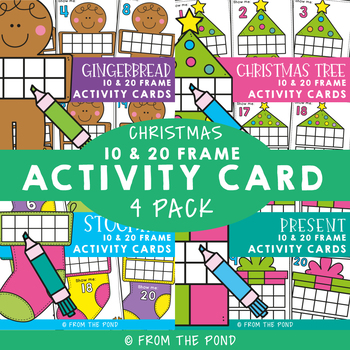 Christmas Activities {December Ten Frame Activity Cards} by From the ...
