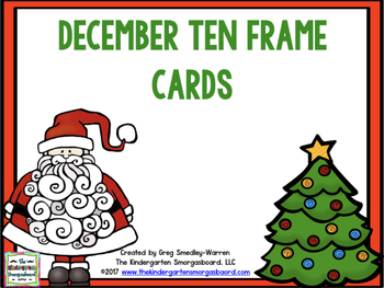 December Ten Frame Cards!  A Common Core Math Creation!