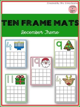 December Ten Frame Mats 1-20