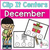 December Tens Frame Clip It Centers