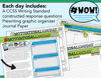 20 Reading Passages December / Google Classroom / Constructed Response Writing