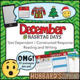 0December Writing Prompts & Reading - December Activities - Christmas Activities
