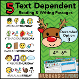 December Text Dependent Reading - Text Dependent Writing Prompts (Option 3)