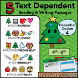December Text Dependent Reading - Text Dependent Writing Prompts (Option 4)