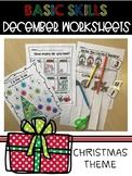 December Theme Christmas Preschool Worksheets