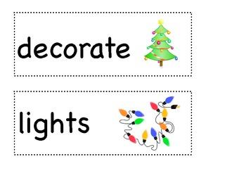 December Theme Word Wall