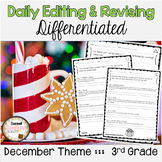 December Themed Differentiated Daily Editing and Revising