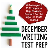 December Themed ELA Paired Passages with Writing Prompts  