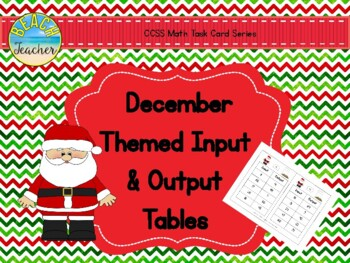December Themed Input and Output Tables
