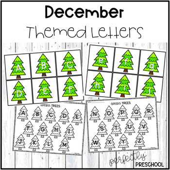 December Themed Letters