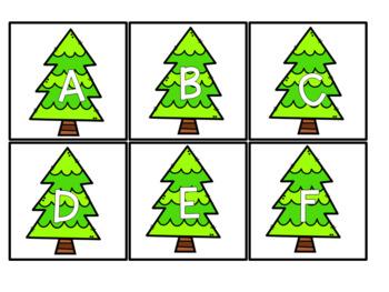 December Themed Sensory Bin Letters