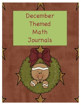December Themed Math Journals