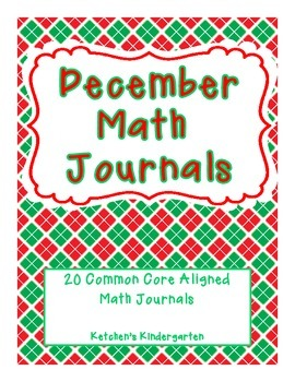 December Themed Math Journals--Common Core Aligned
