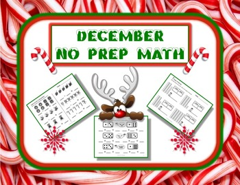 December Themed NO PREP Math Pack - 23 Print and Go Math Activities!!!!