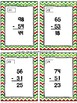 December Themed Subtraction Without Regrouping Sorting Activity & SCOOT Game