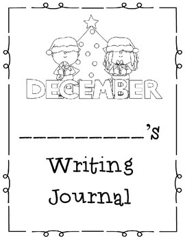 December Themed Take Home or Classroom Writing Journal