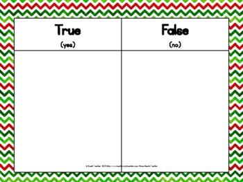 December Themed True or False Math Equations 1.OA.7