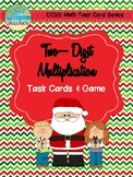 Christmas Themed Two-Digit Multiplication Task Cards & Game 4.NBT.5