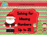 December Themed Unknown Number Equations Matching Puzzles 1.OA.8