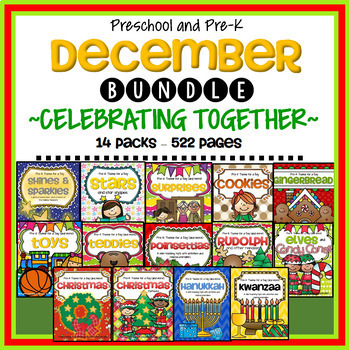 December Themes BUNDLE for Preschool and Pre-K