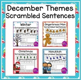 December Themes Scrambled Sentence Build a Sentence Writing