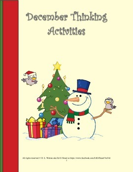 December Thinking Activities