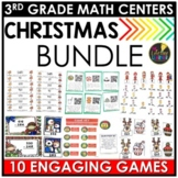 Christmas Third Grade Math Centers BUNDLE