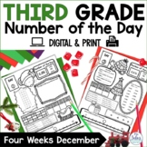December Third Grade Place Value Number of the Day