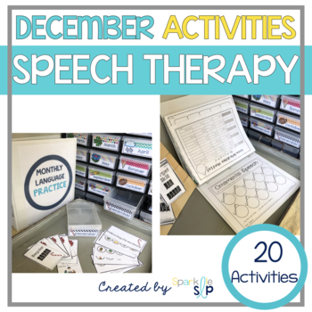 December Monthly Themed Therapy: Tidings of Speech and Language