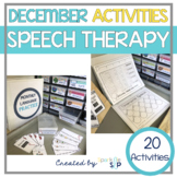 December Monthly Themed Speech Therapy   Tidings of Speech and Language